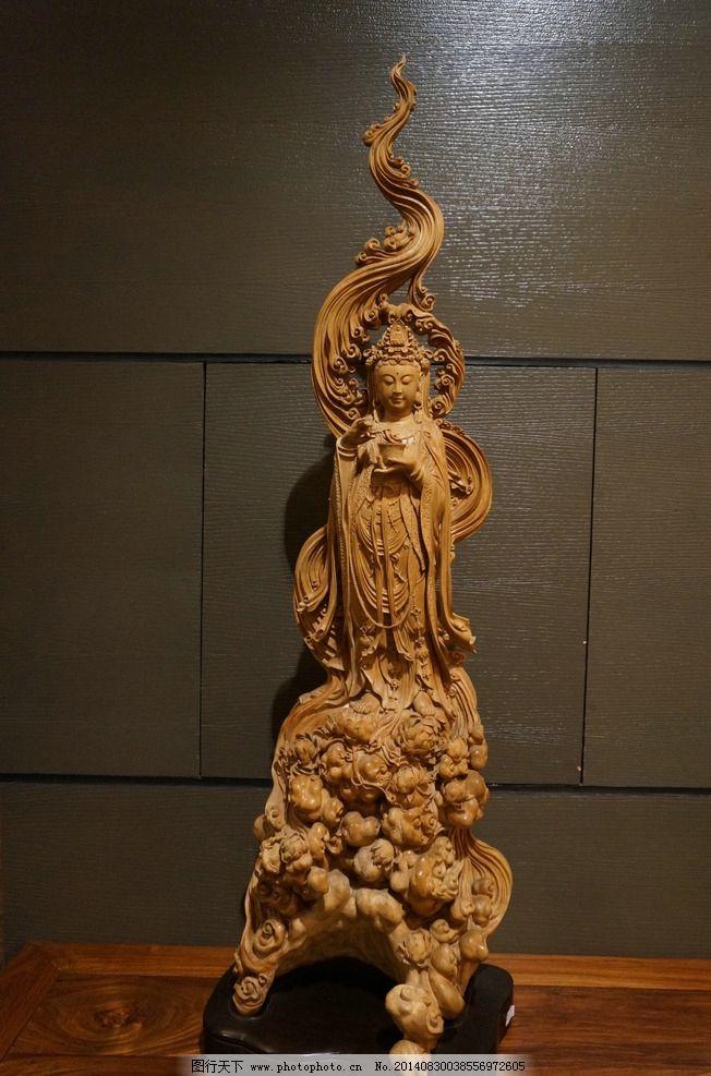 木雕观音像图片