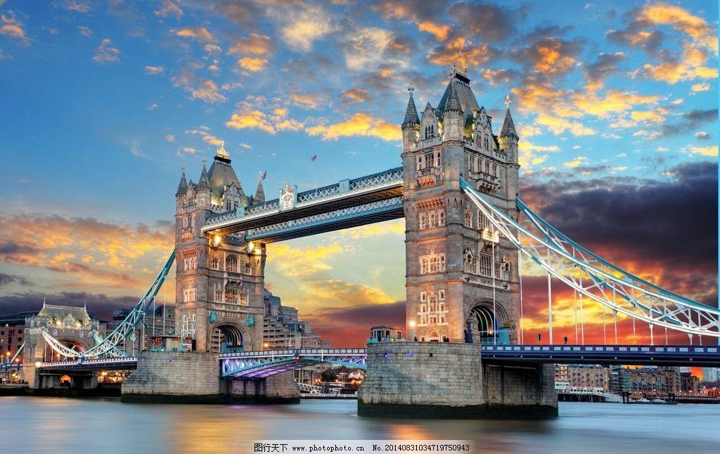 伦敦塔桥图片_建筑景观