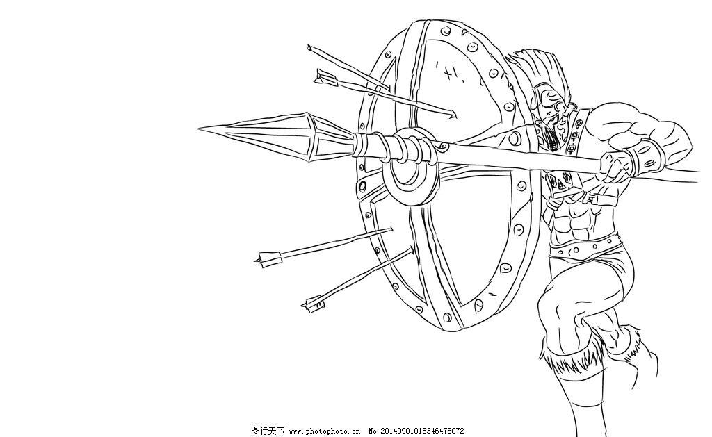 设计图库 动漫卡通 动漫人物  战争之王 潘森 英雄联盟 lol 游戏 动漫