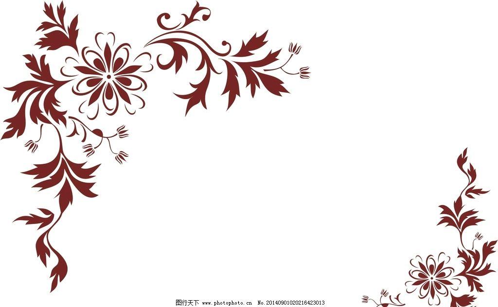 矢量 花纹 硅藻泥 设 角花 对角花 室内设计素材 素材 设计素材 墙面图片