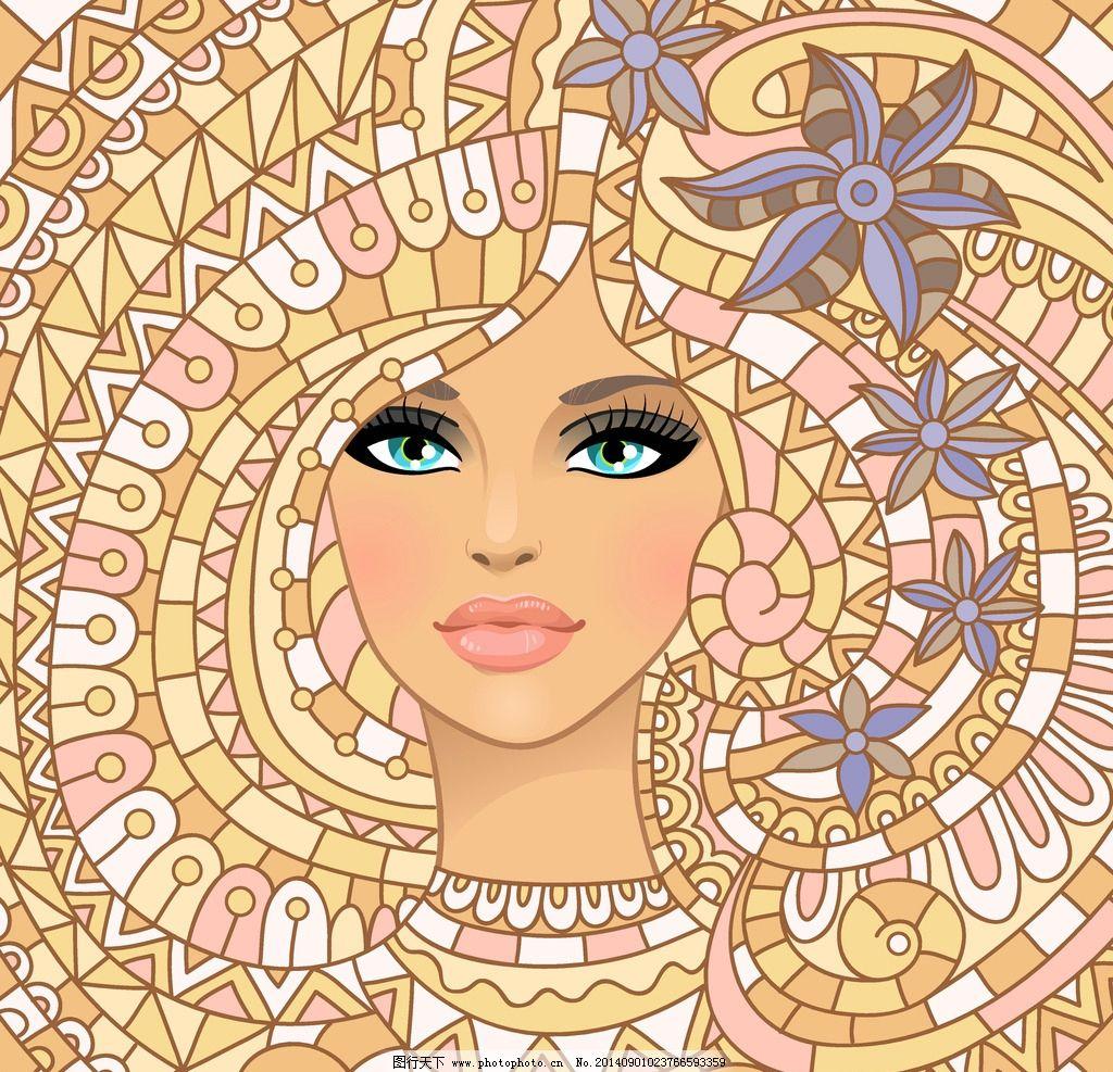 美女头像 手绘少女 手绘美少女 女孩 女人 美女 时尚 卡通美女 少女