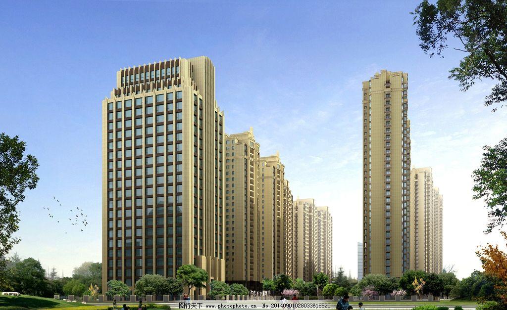 建筑楼        三维图 高层楼 写字楼 办公楼 建筑设计 环境设计