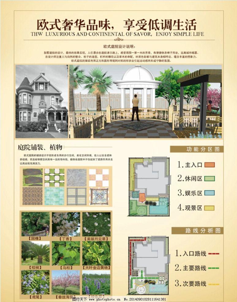 室内设计 环境设计 别图片,艺术设计 别墅 庭院 展板