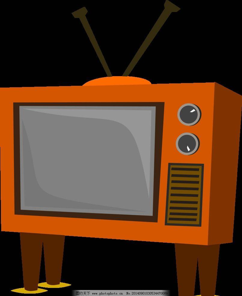 电视机 卡通 图标 简笔画