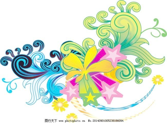 矢量边框花纹 矢量花纹素材 矢量图库 花朵纹理 矢量花纹素材 矢量