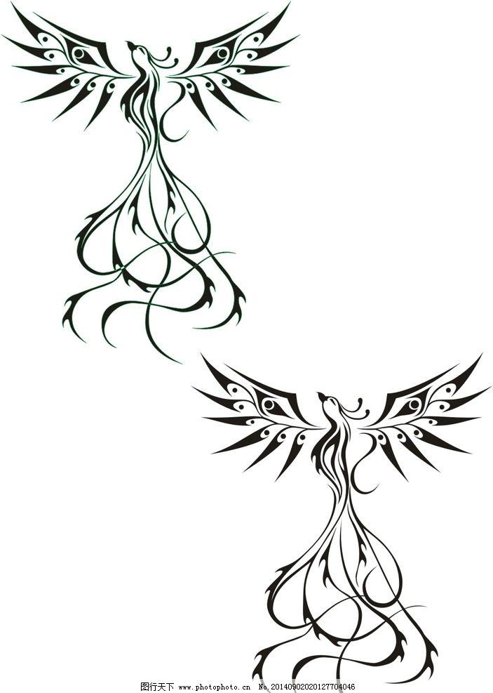 纹身 凤凰 矢量 标志 素材 图腾 其他图标 标志图标 纹身 设计 标志