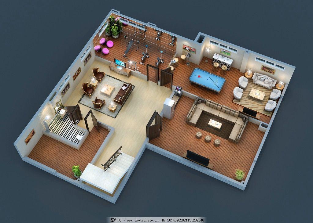 三维户型图图片,三维图 房子 室内 布局-图行天下图库