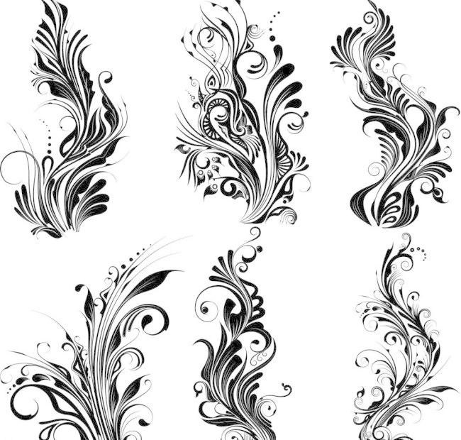手绘植物花纹图片