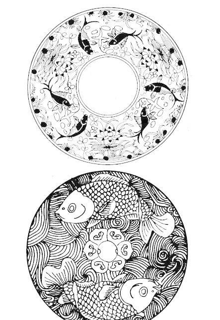 传统吉祥动物纹样圆盘双鱼