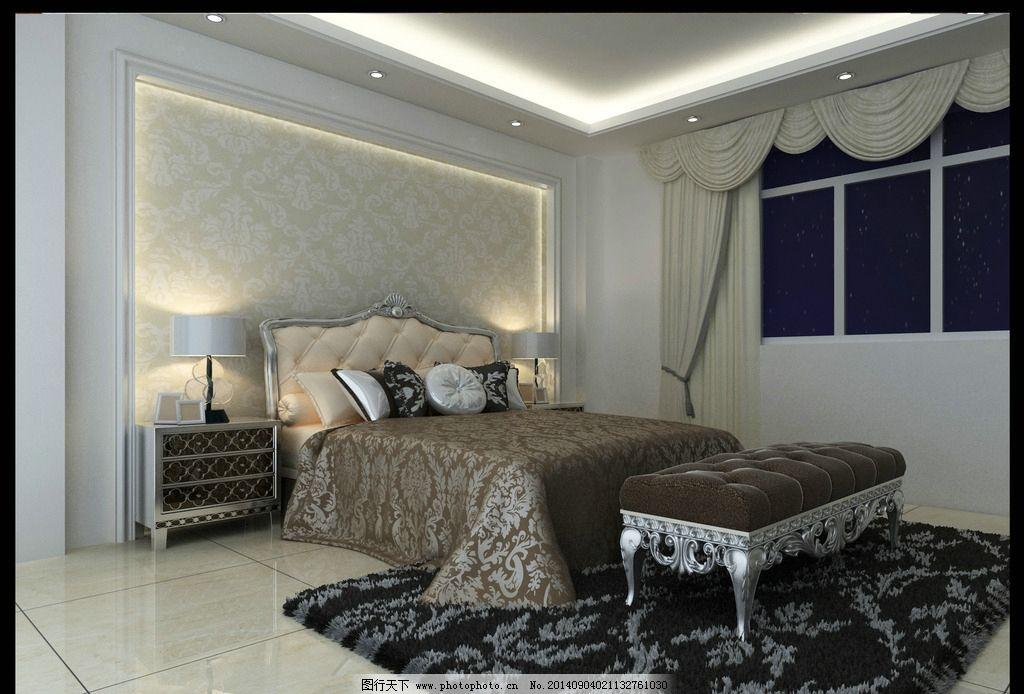 现代卧室 时尚装修 时尚室内图片 吊顶      背景墙 3d作品 3d设计