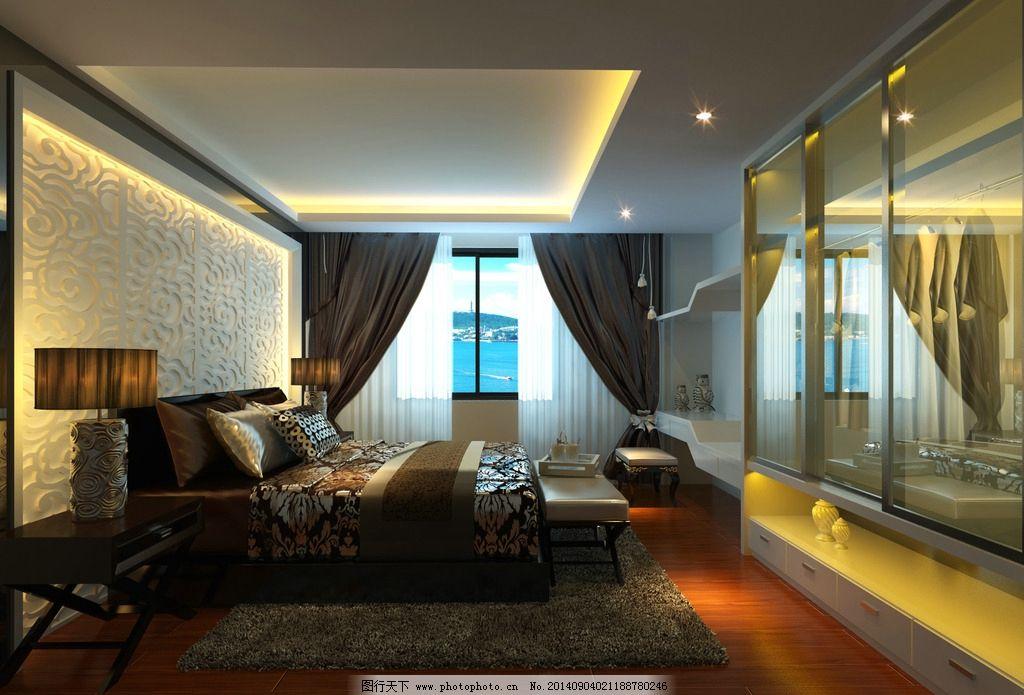 卧室效果图 建筑 室内装修             3d 室内模型 3d设计 设计 3d