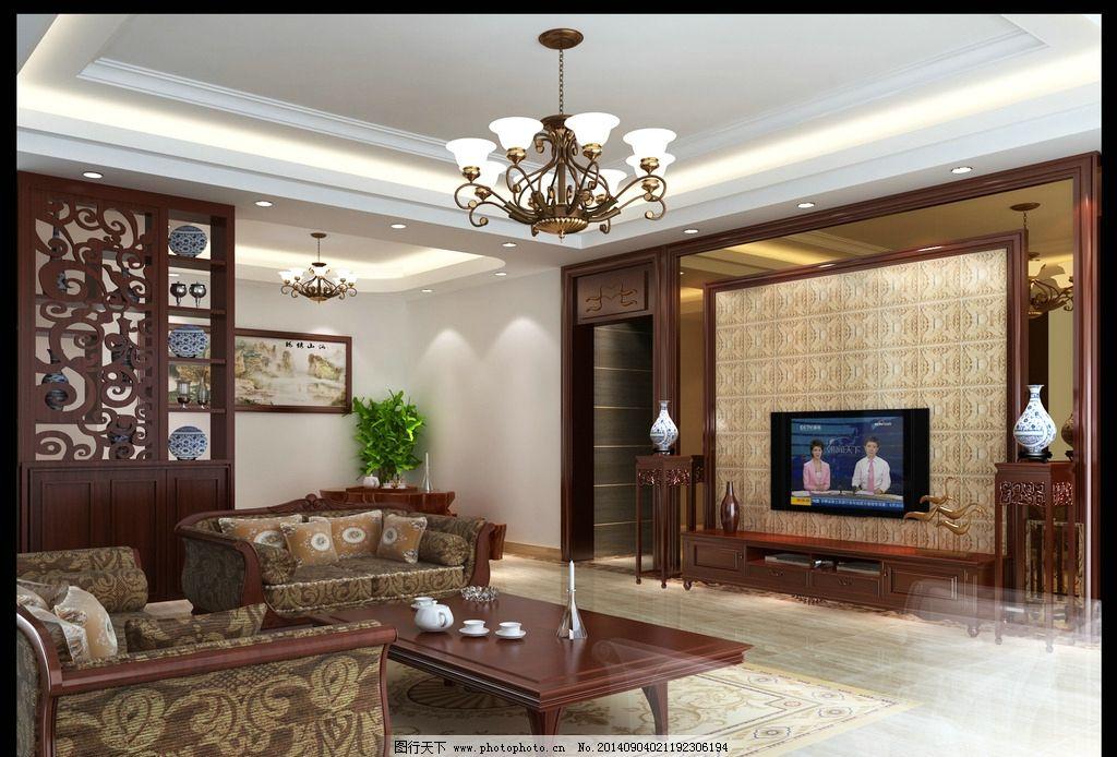 室内效果图 现代客厅 时尚装修 时尚室内图片 吊顶      背景墙 3d