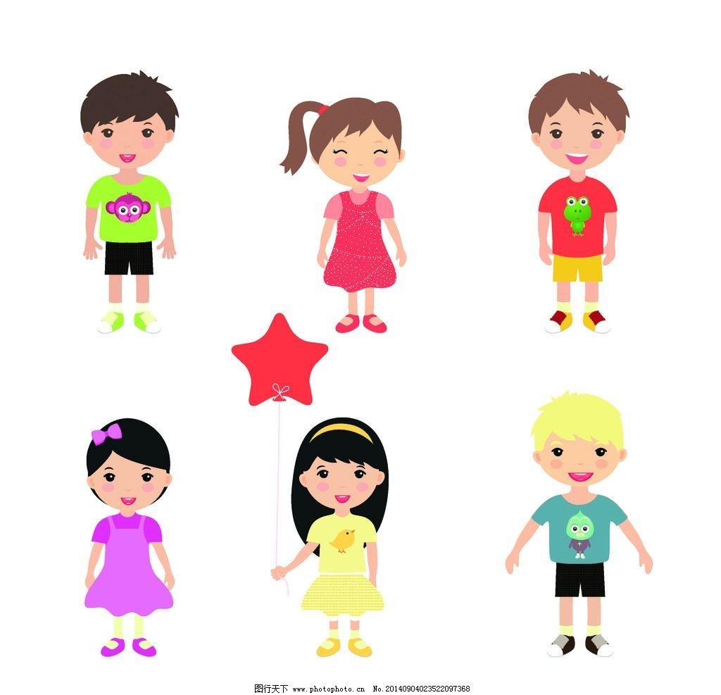 穿着卡通人物衣服的卡通男孩女孩头像是什么系列的图片