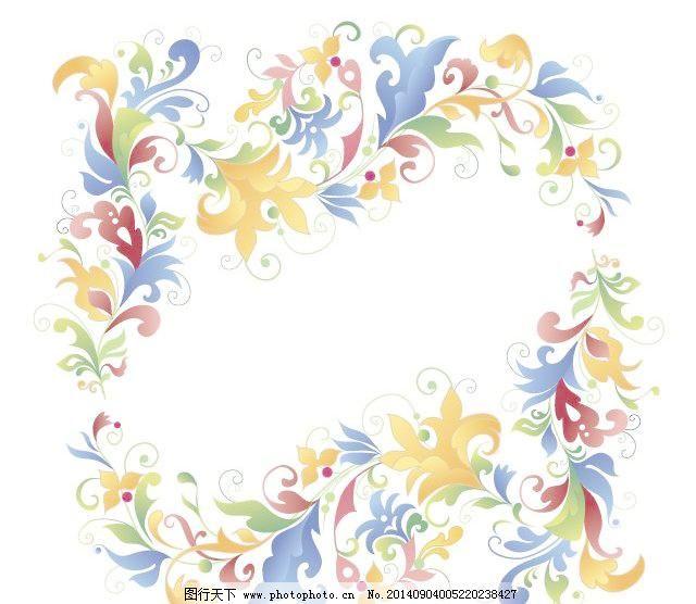 矢量可爱花朵边框背景免费下载