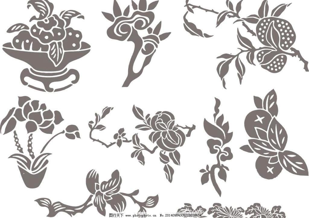 中式古典纹样免费下载 矢量边框花纹 矢量花纹素材 矢量图库 中式古典