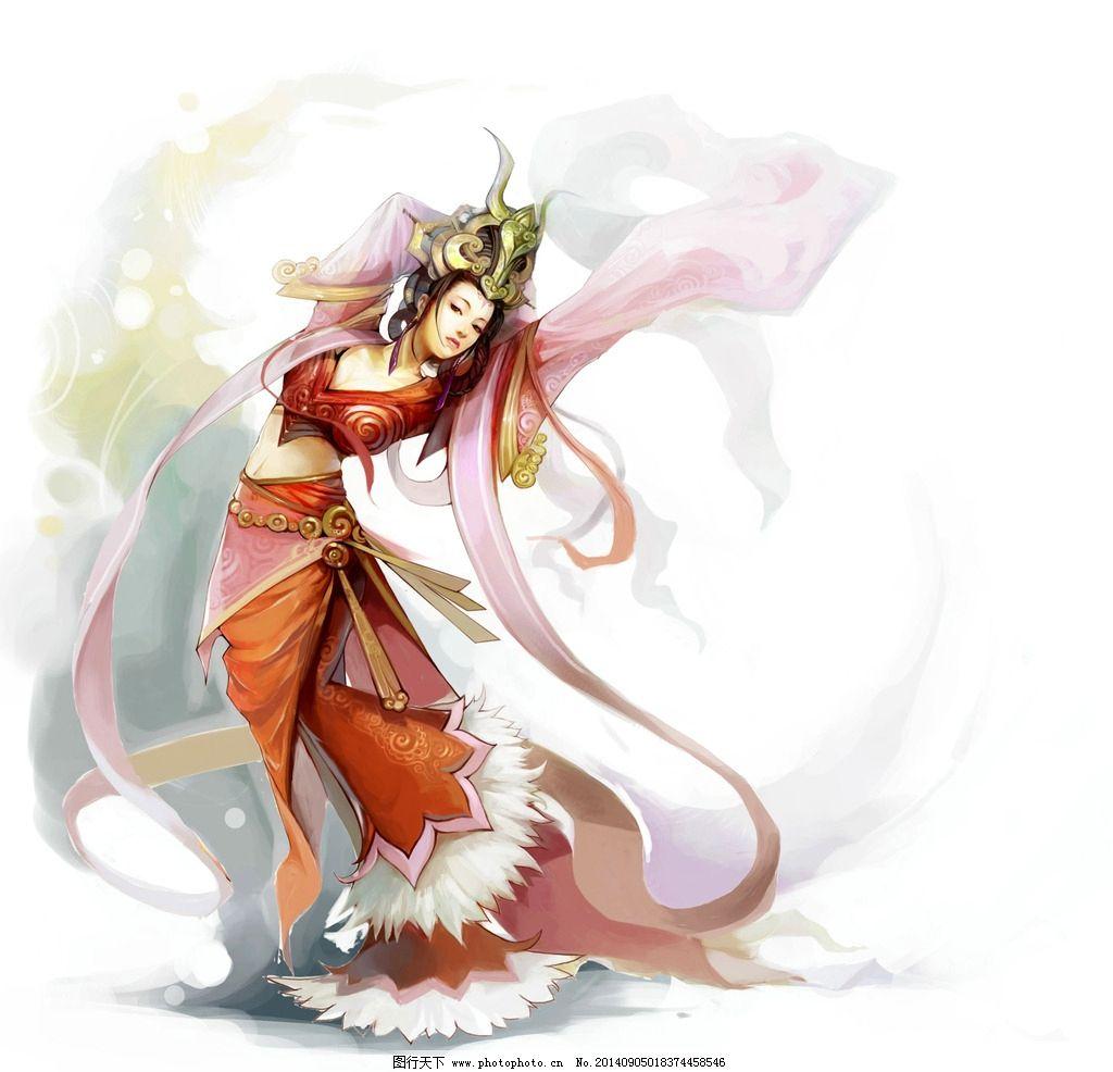 仙侠古装美女手绘图