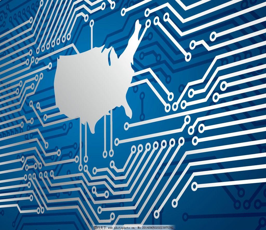 科技背景 蓝色 创意背景 电路板 商务背景 画册封面设计 底纹背景