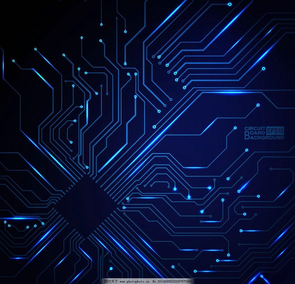 科技背景 通信 网络 蓝色 创意背景 商务背景 设计 矢量 eps 设计图片