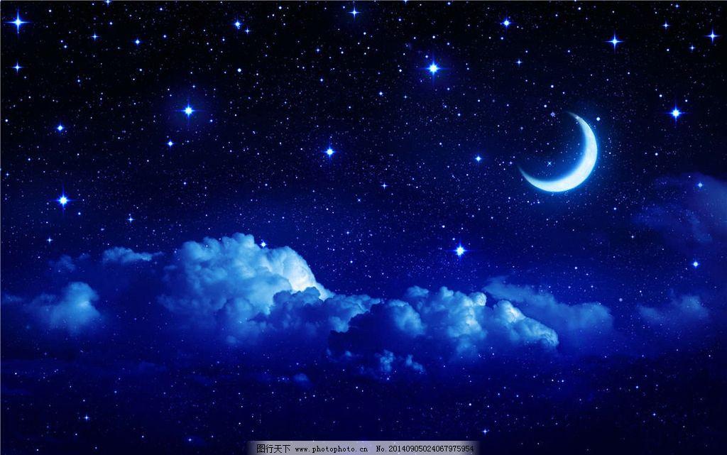 月亮 月牙 moon 月夜 夜晚