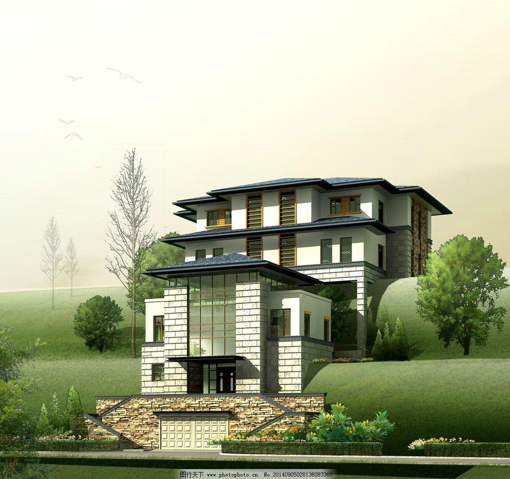 别墅景观效果图图片