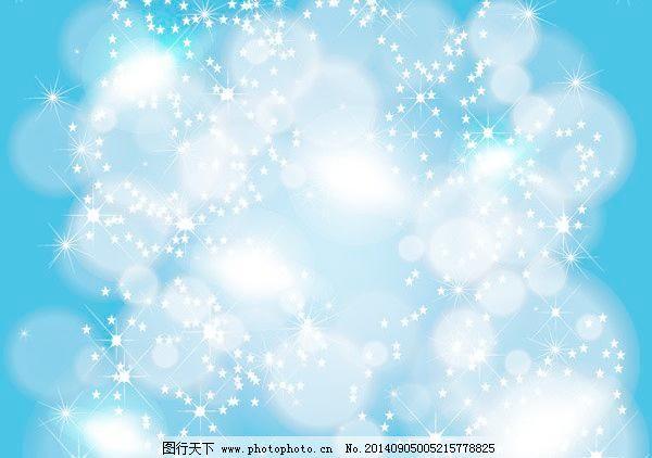 矢量图库 梦幻背景 浪漫蓝色星空 矢量边框花纹 矢量图库 花纹花边图片