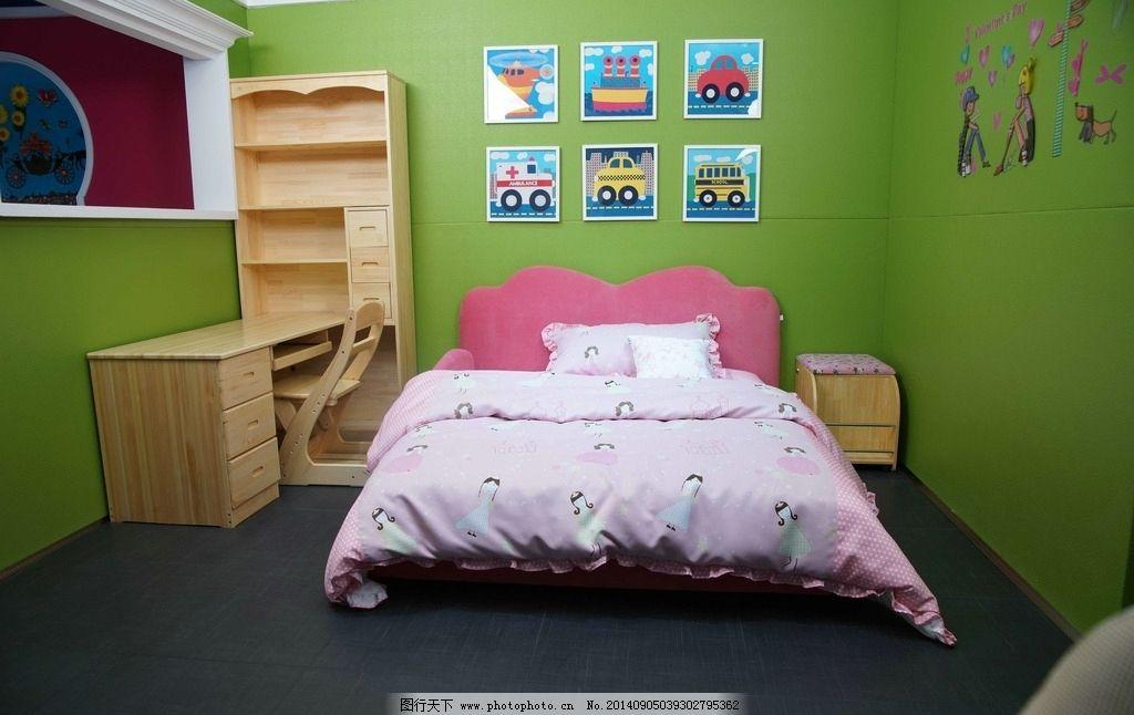 房间设计图卧室图片 女孩两层床