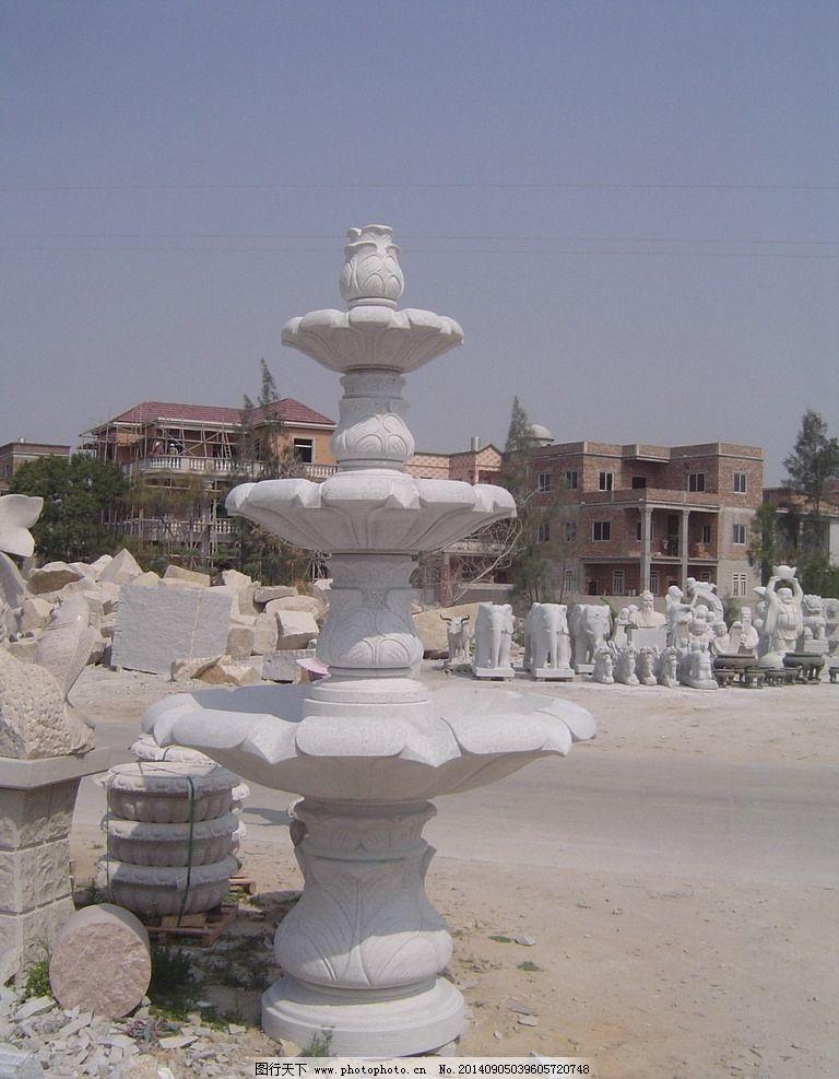 喷泉水池 景观水池 景观喷泉 水池 喷泉水景 跌水钵 雕塑 建筑园林