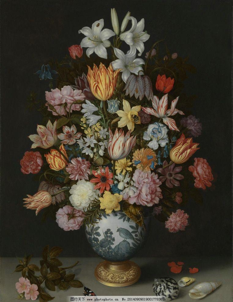 高清花卉油画图片_绘画书法_文化艺术_图行天下图库