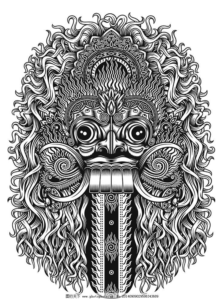 头骨 骷髅 恐怖 危险 恐怖图案 t恤图案 刺青图案 纹身图案 骨头 邪恶