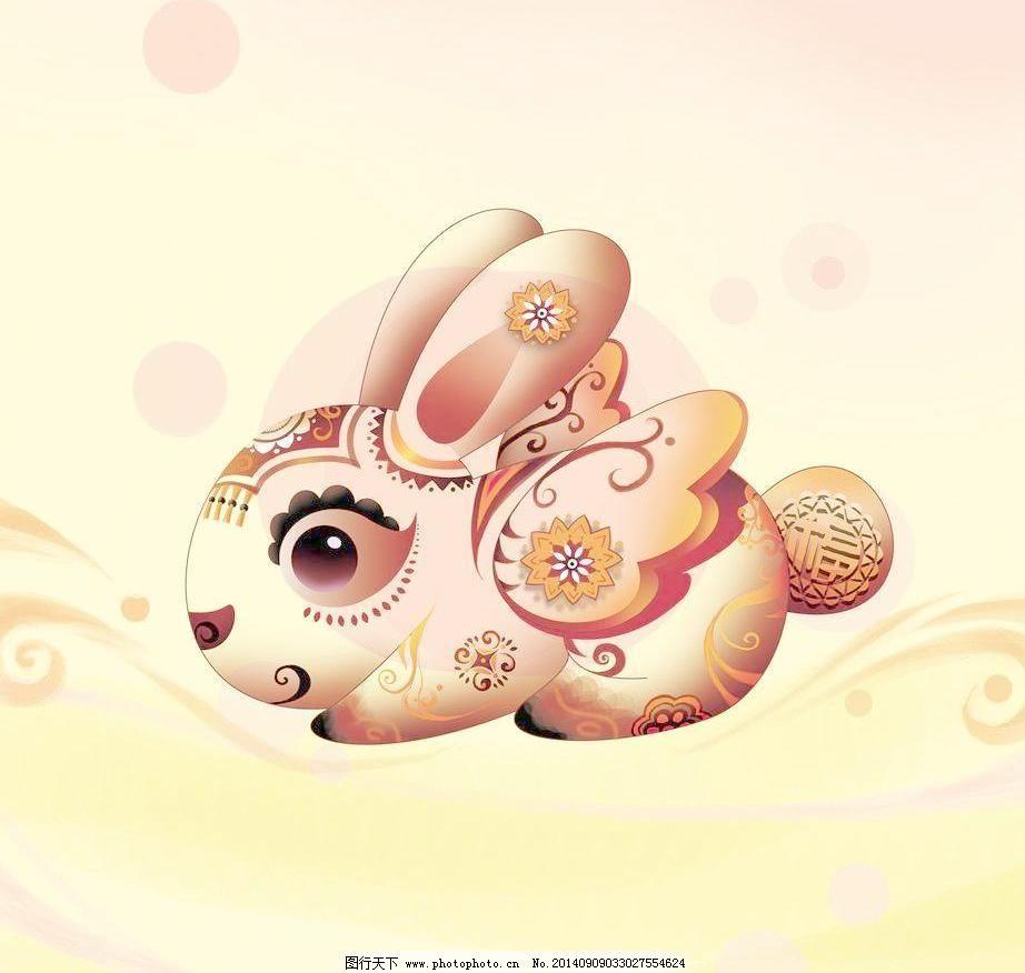 兔子 翅膀 新年 兔年 传统 中国 绘画 可爱 绘画书法 文化艺术 兔子设