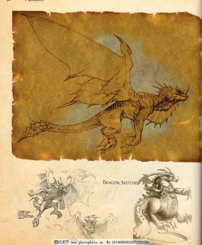 游戏原画 速写 游戏 人物 背景 游戏动物设计 游戏怪兽 游戏人物线描