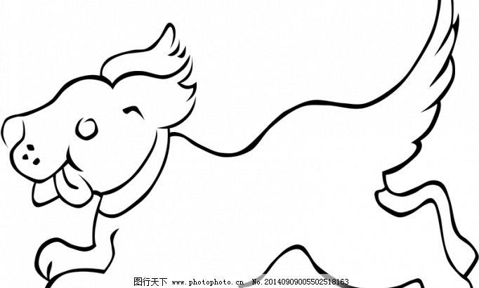 快乐的跑的小狗矢量图像免费下载 斑点 哺乳动物 宠物 动物 狗 褐色