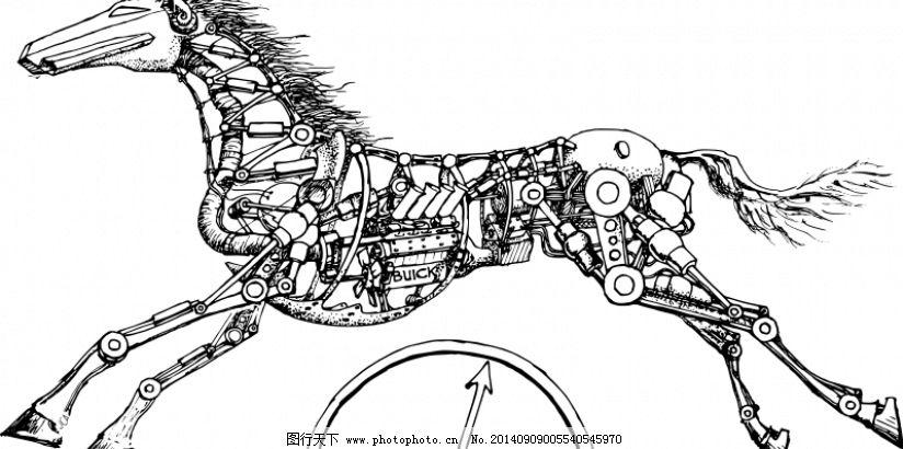 机械马矢量图像免费下载 发动机 工业 机器人 机械 夹 剪贴画 建设