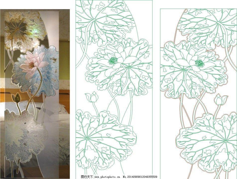 艺术玻璃花型囹�b_荷莲花艺术玻璃
