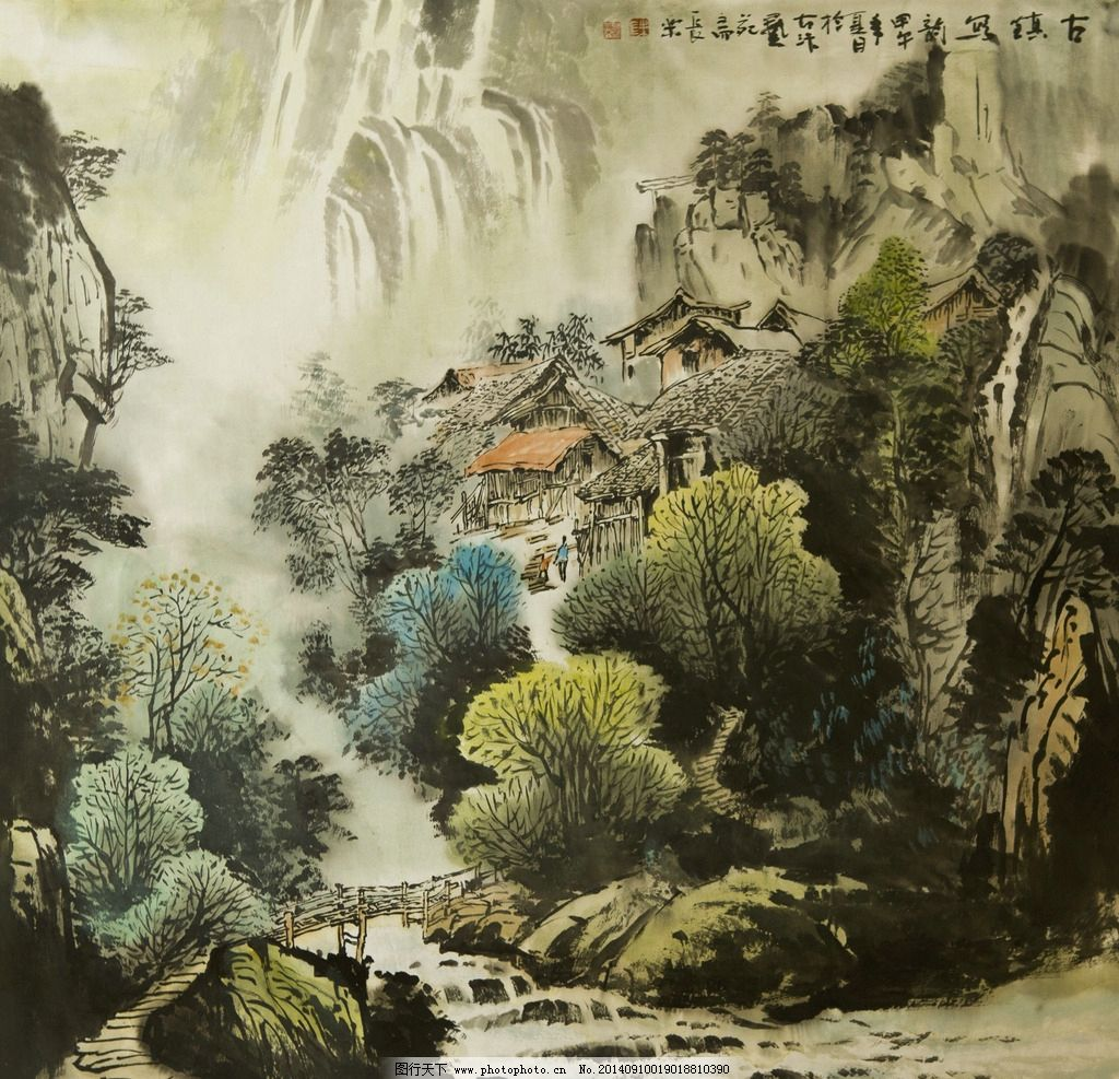 超特大幅的山水国画,一般用什么 什么纸或什么布或其它 画