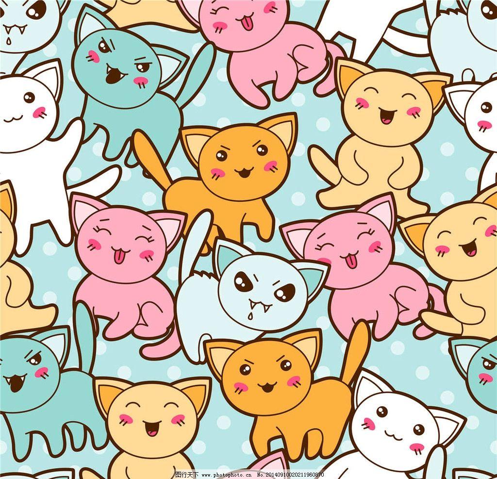 小猫卡通背景图片图片