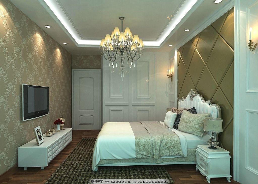 简欧卧室效果图 简欧             室内 设计 3d作品 3d设计