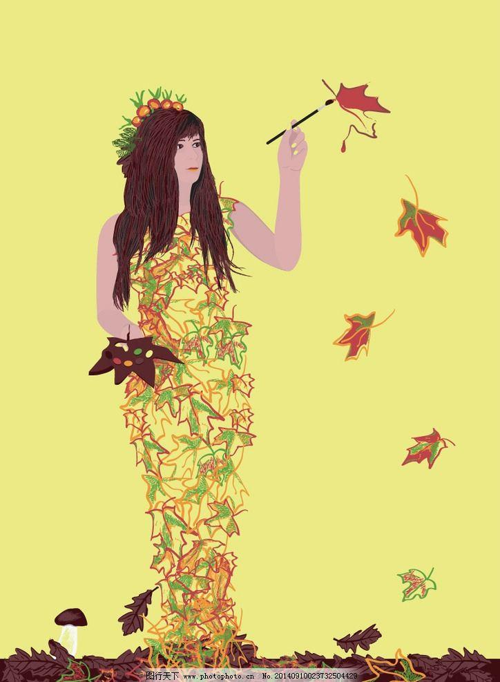 枫树手绘风景铅笔画