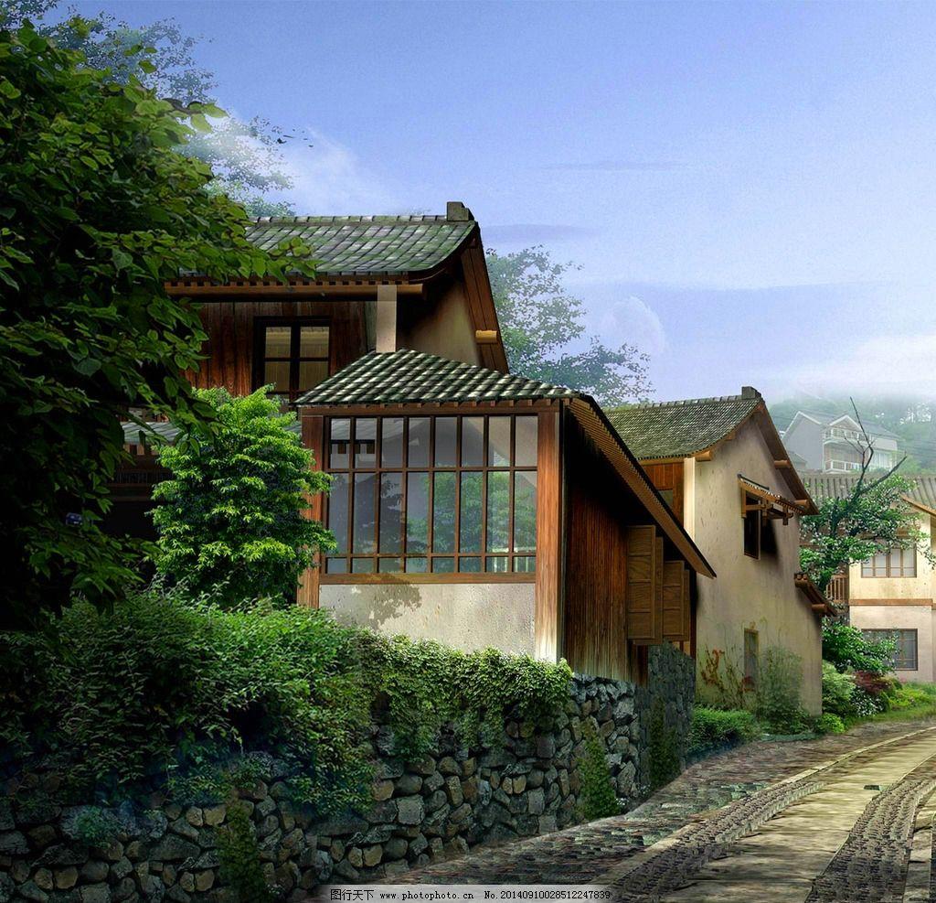 中式别墅图片图片
