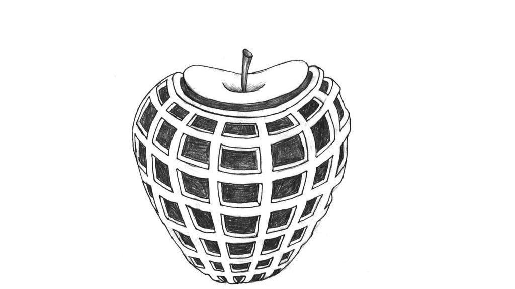 创意手绘苹果图片