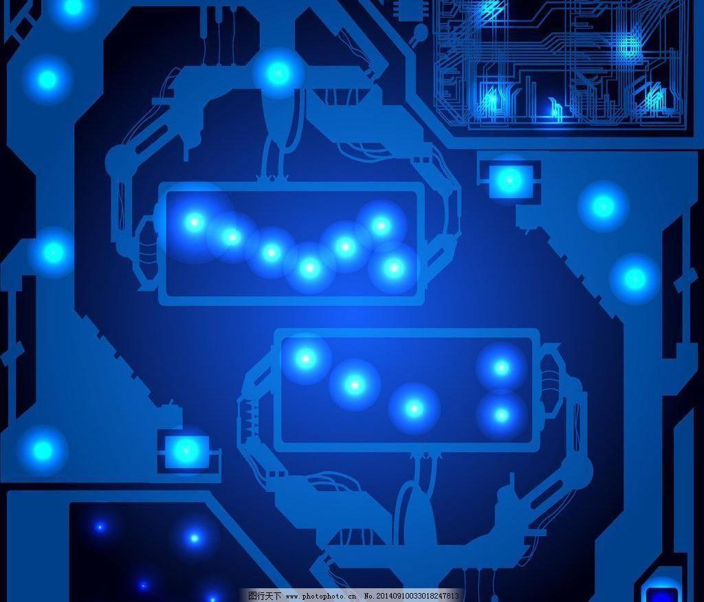 电路板 动感 光芒 科技背景 动感 蓝色 光线 光芒 电路板 创意背景