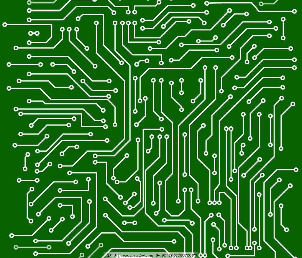 电路板 动感 画册封面设计 科技背景 动感 绿色 电路板 创意背景 商务