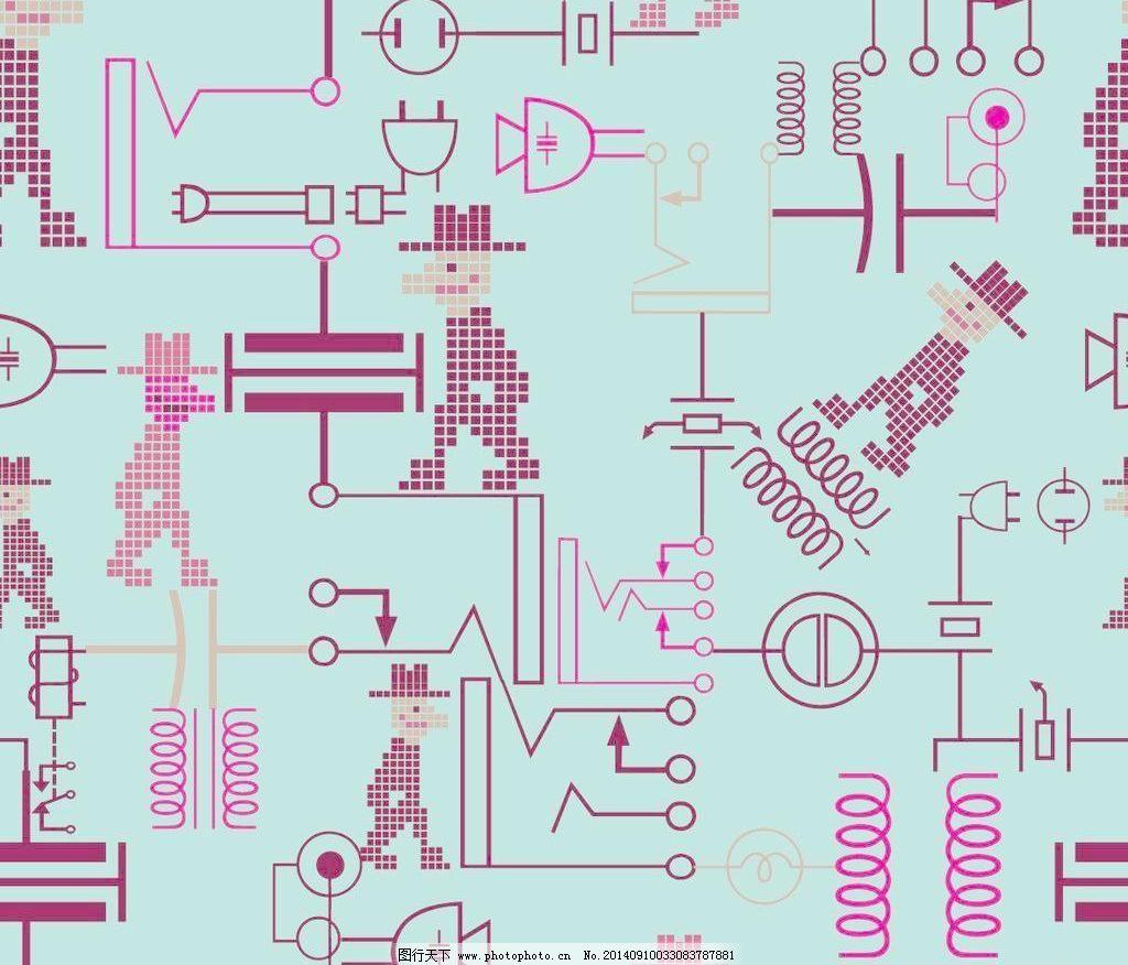 抽象电路简图底纹背景图片
