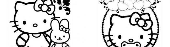 kt猫 线条画 猫素材 矢量素材 其他矢量 矢量 猫咪模板下载 漫画猫咪
