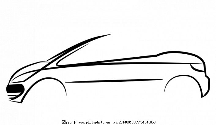 汽车设计的轮廓矢量图像
