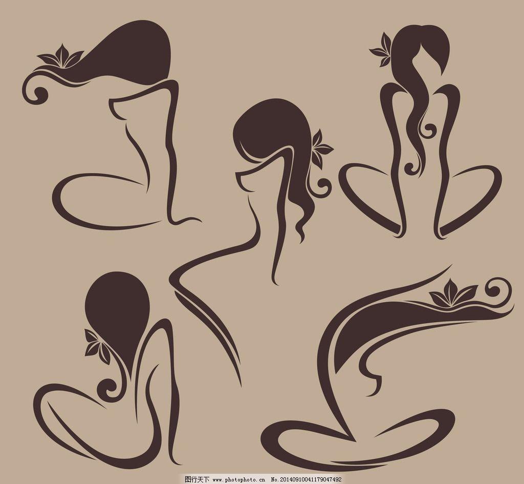 手绘女性图片