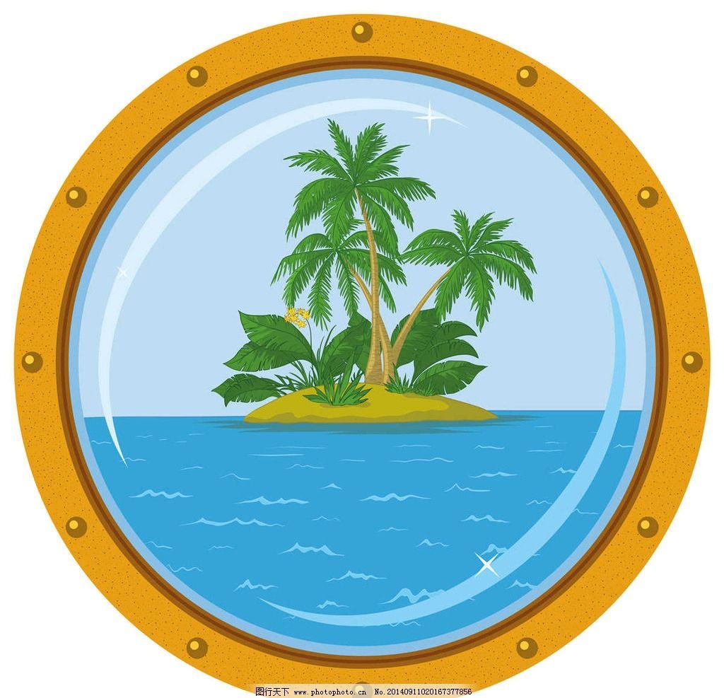 海岛椰子树夏季旅游图片_其他_标志图标_图行天下图库