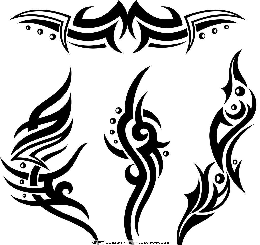 纹身 纹身图案 手绘 吉祥 图腾 线条 花纹 纹样 花边 图形