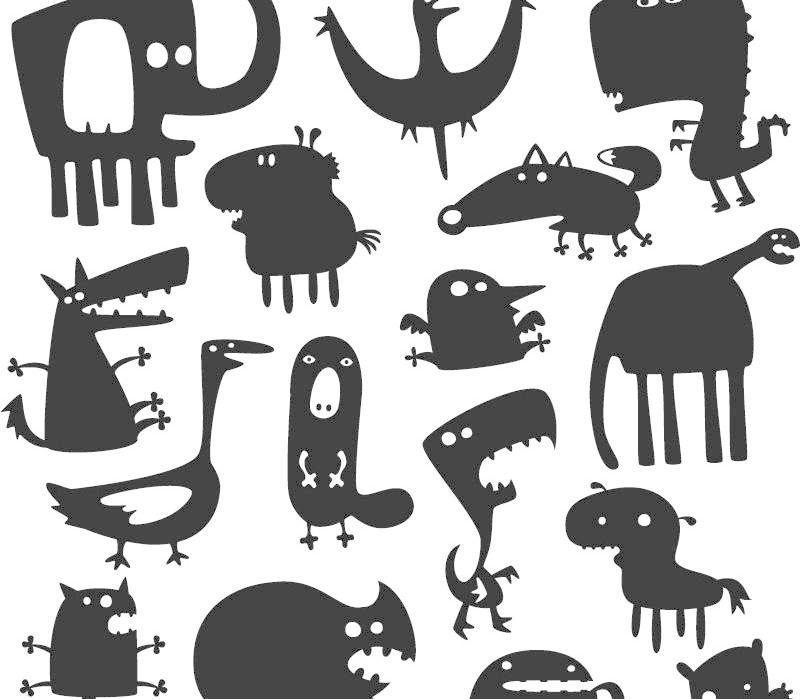 大象剪纸图案大全简单图解