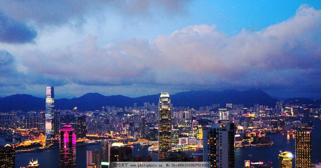 香港九龙半岛夜景